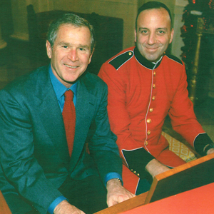 Bob with President Bush