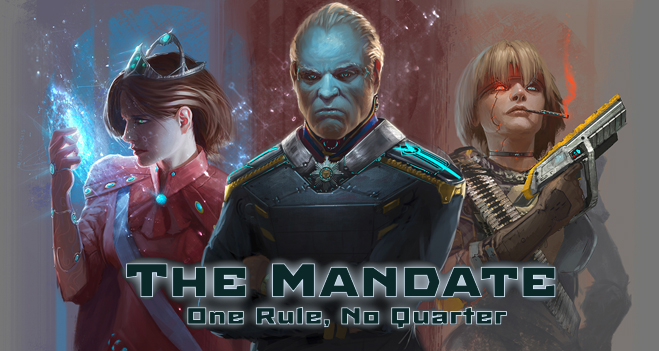 The Mandate - I was hired to created ships for a specific faction of the game.