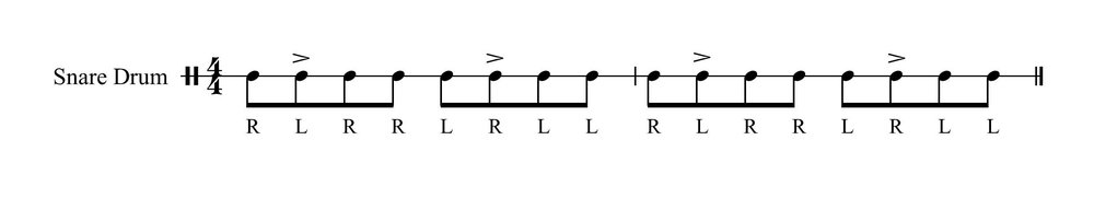 Paradiddle Accent 2