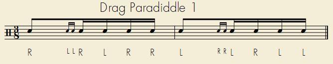 Drag Paradiddle 1
