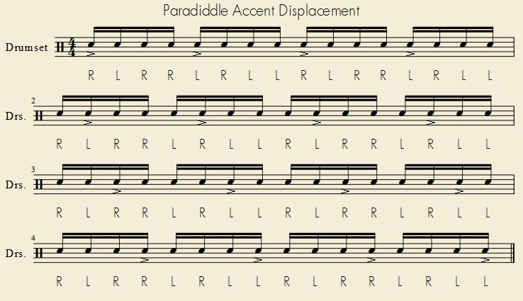 Paradiddle Accent Displacement