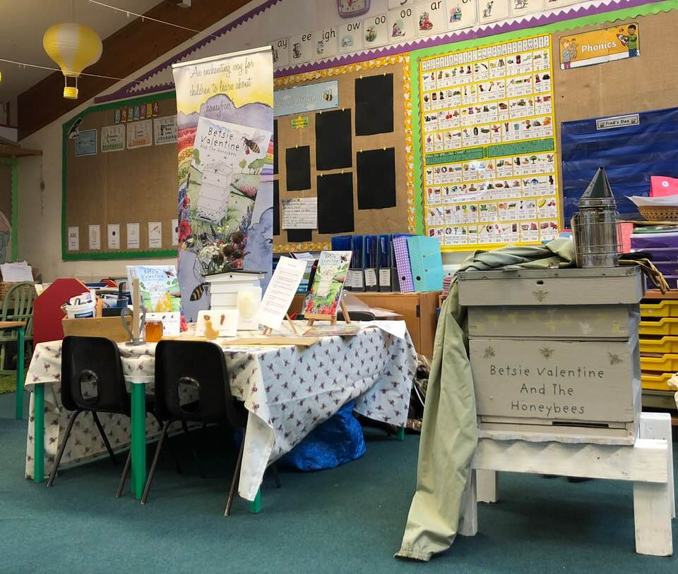 The classroom at Trinity Primary School where I set myself up for the day.
