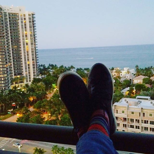 My view this evening @yaesoljishin #sunset #onthebeach #penthouse #thelife #sofla