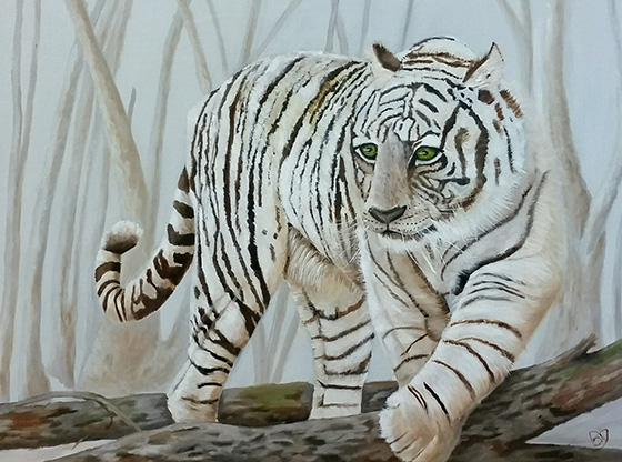 White Snow Tiger © 2018 Bea Gustafon   All Rights Reserved