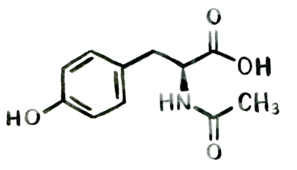 Nacetyl Ltyrosine Structure for Nootropics UK by Earthly Biotics