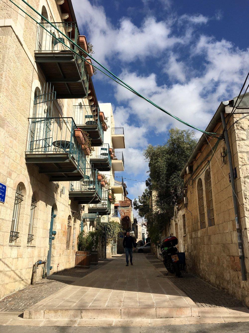 Jerusalem street - not old city.JPG