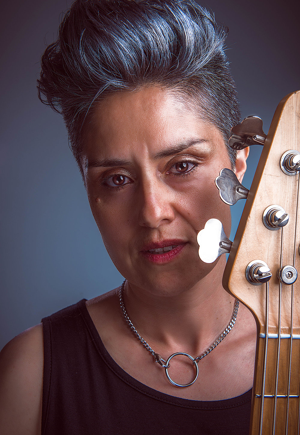 Oriana Barbato / Bass - Oriana Barbato is a versatile bassist, composer and a founding member of Santerías. Her eclectic style, adaptability, work ethic and professionalism have brought her to stages across North America and Europe, where she has shared the stage and been billed alongside with world-renowned musicians such as latin/flamenco fusion act TaKiLo, Catalan cumbia group La Troba Kung Fu, Qawwali master Shahid Ali Khan, Warwick endorsed bass prodigy Jorge Campos and Juno award-winning Canadian songwriter Bif Naked. Oriana holds a BFA from York University and also offers freelance services as she enjoys playing shows and is very passionate about her instrument. She shares these strengths by teaching bass and facilitating bands throughout the year, for sessions run by the Toronto Girls Rock Camp body.