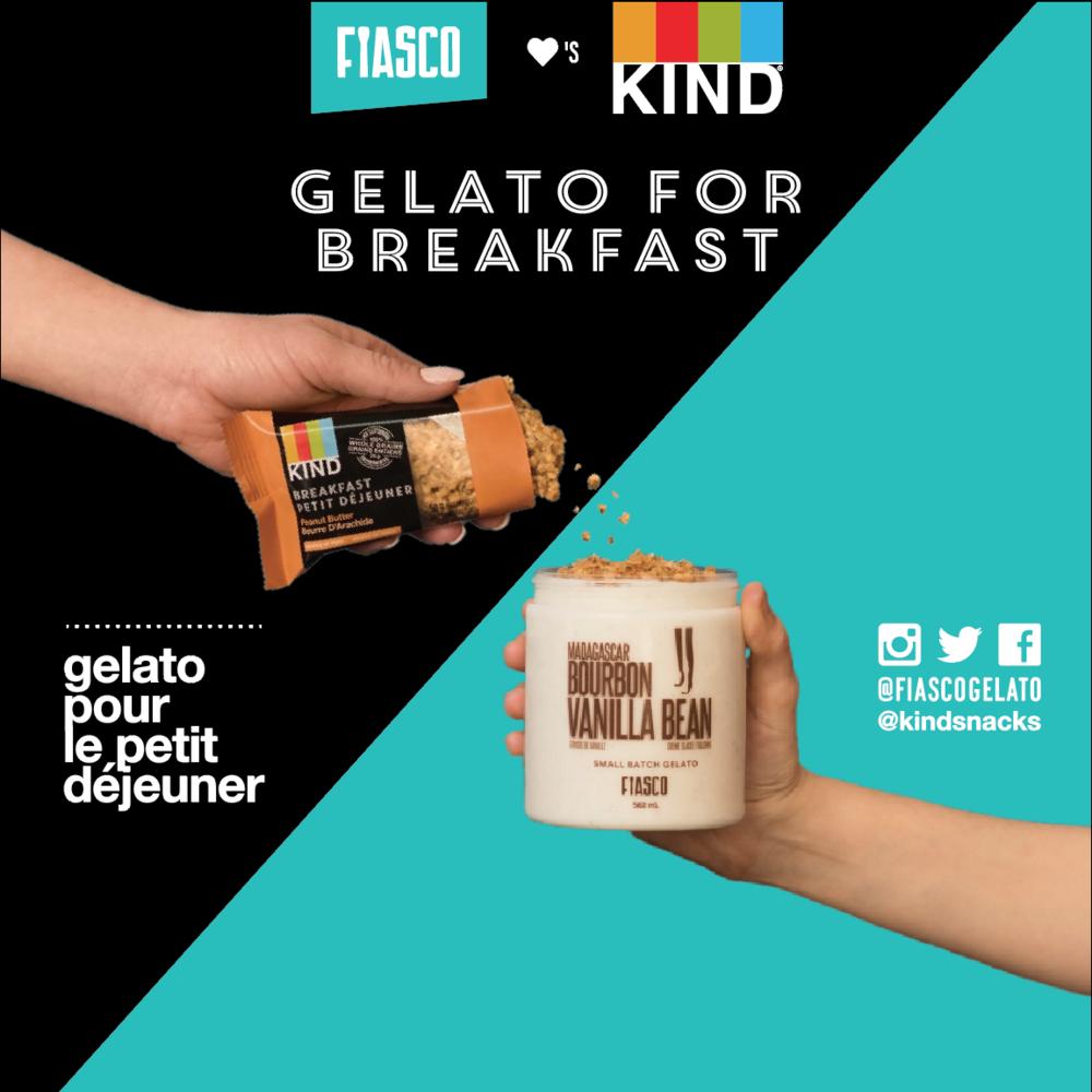 FIASCO x KIND - GELATO POUR LE PETIT DÉJEUNER