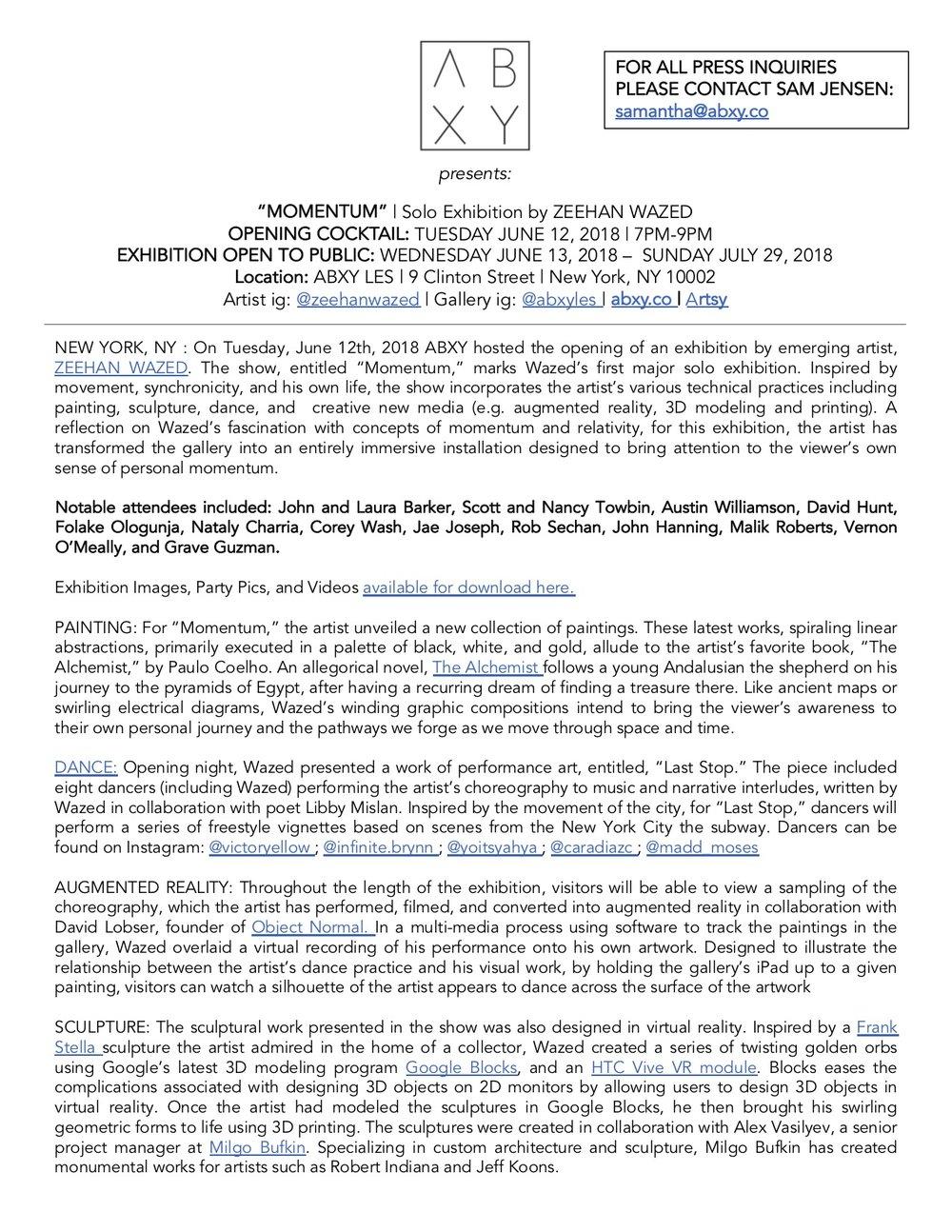 Zeehan Post Release.jpg