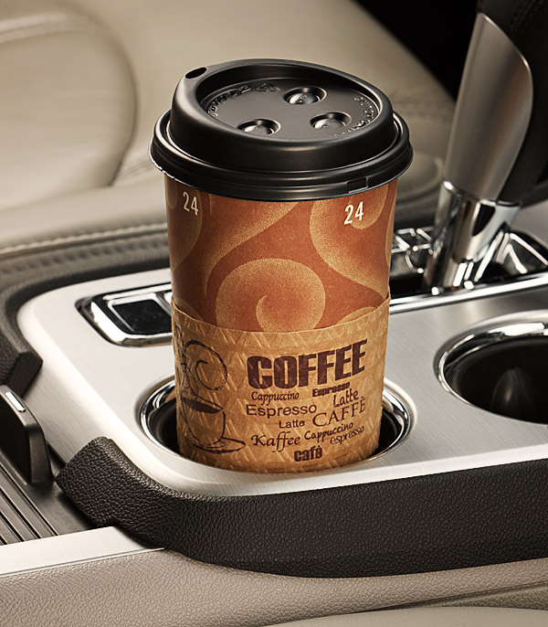 Beverage Photography in a Car