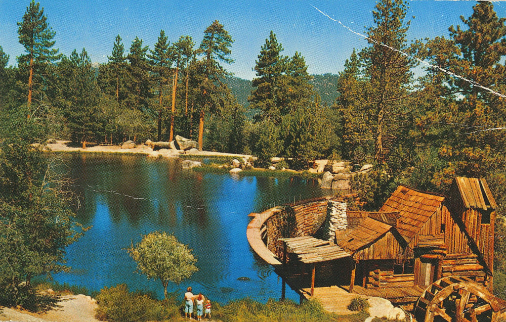 Cedar Lake Camp, a Christian retreat camp in the San Bernardino Mountains near Big Bear Lake, California, as it looked in the 1970s.