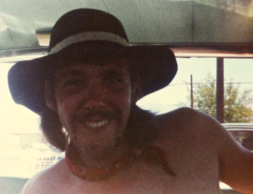 "My stepdad Billy ""Rattlesnake"" Brennan in California, 1977. Billy became Dad growing up."