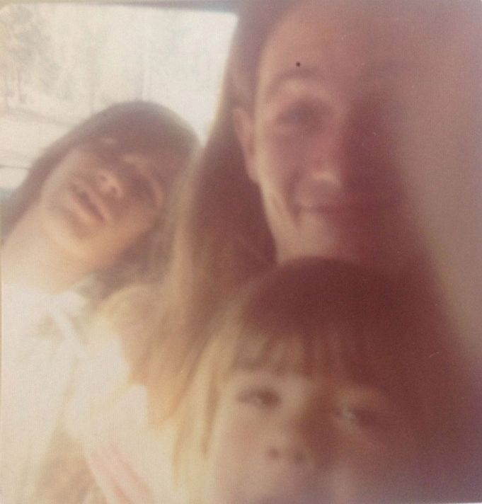 Me with Boy Taylor's friend and hitchhiker in Mom's Station Wagon somewhere in America, 1974.