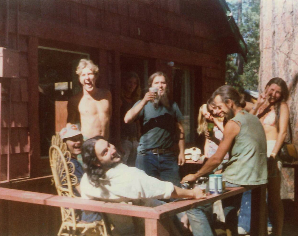 Porch party, Big Bear Lake, California, 1974.