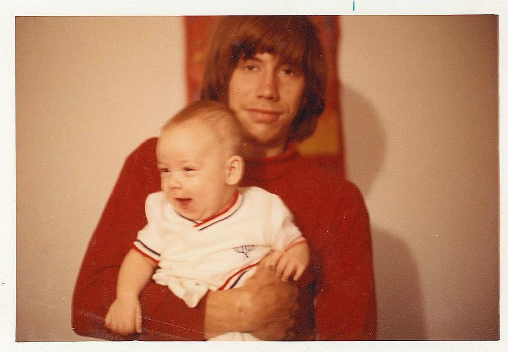 My father and me in Cottonwood, Alabama.