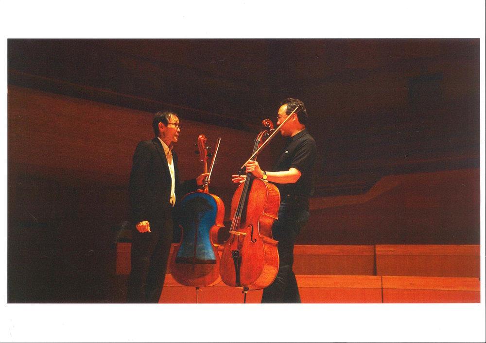 Yo Yo Ma playing Tsunami Violin (cello)