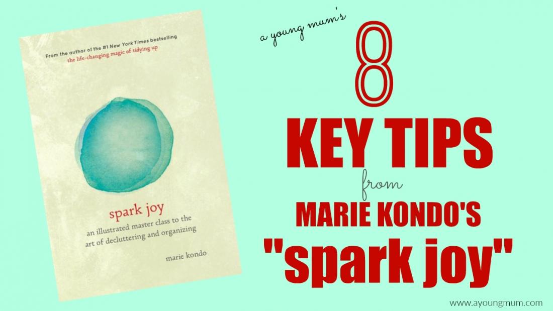 marie kondo spark joy tips