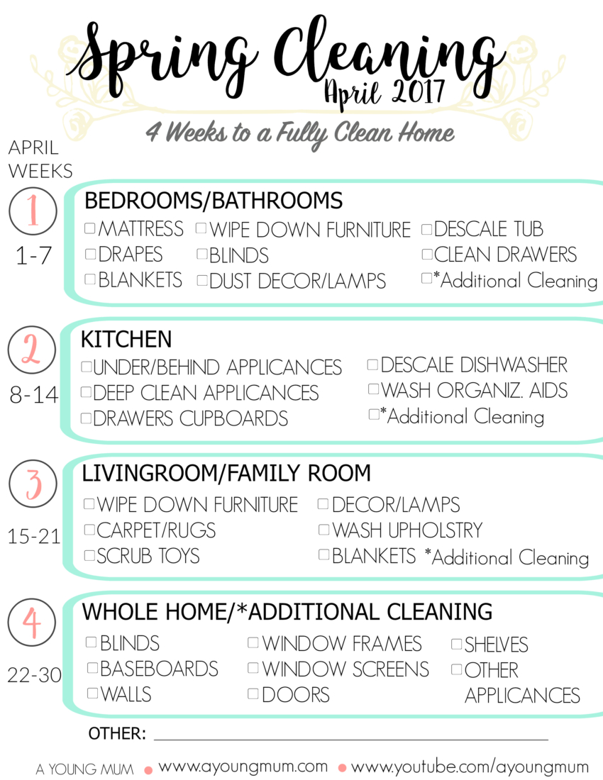 konmari spring cleaning list 2017