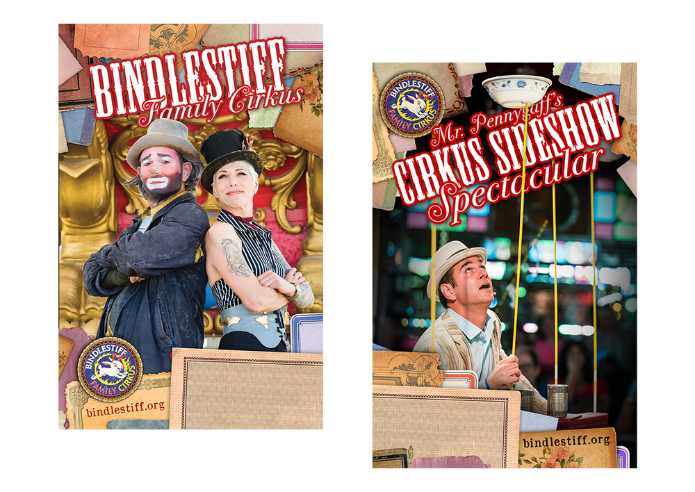 Bindlestiff Family Cirkus poster designs (2017)