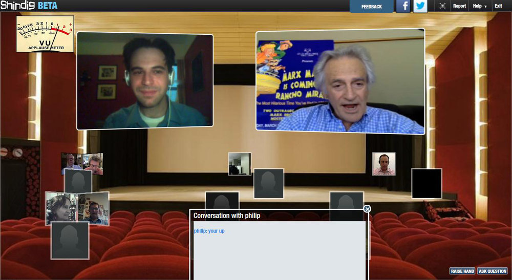 May 15, 2014: Virtual Shindig with Bill Marx, son of Harpo.