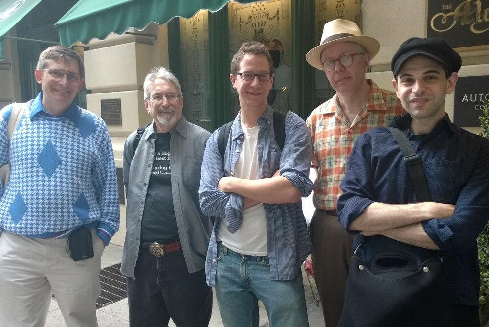 Notable Marxists gather for Kevin Fitzpatrick's walking tour.