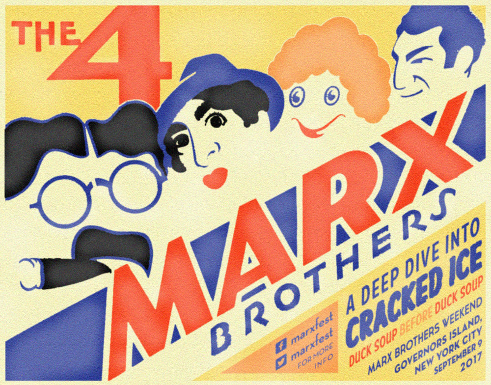Among the tentpole events of Marx Brothers Weekend was a public reading of  Cracked Ice , the little-known rough draft of  Duck Soup , featuring the Marxfest Committee and members of the Off Broadway cast of   I'll Say She Is  . Video of the event can be found  right here .