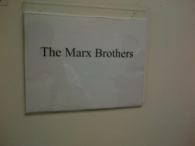 We knew it was going to be a good show when we saw the sign on our dressing room door.