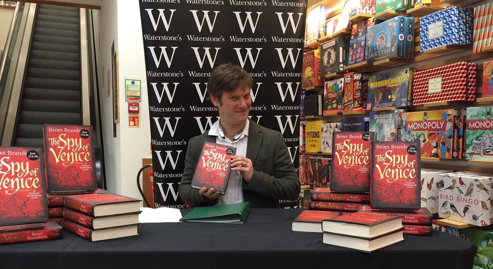THE SPY OF VENICE BOOK SIGNING AT WATERSTONE'S