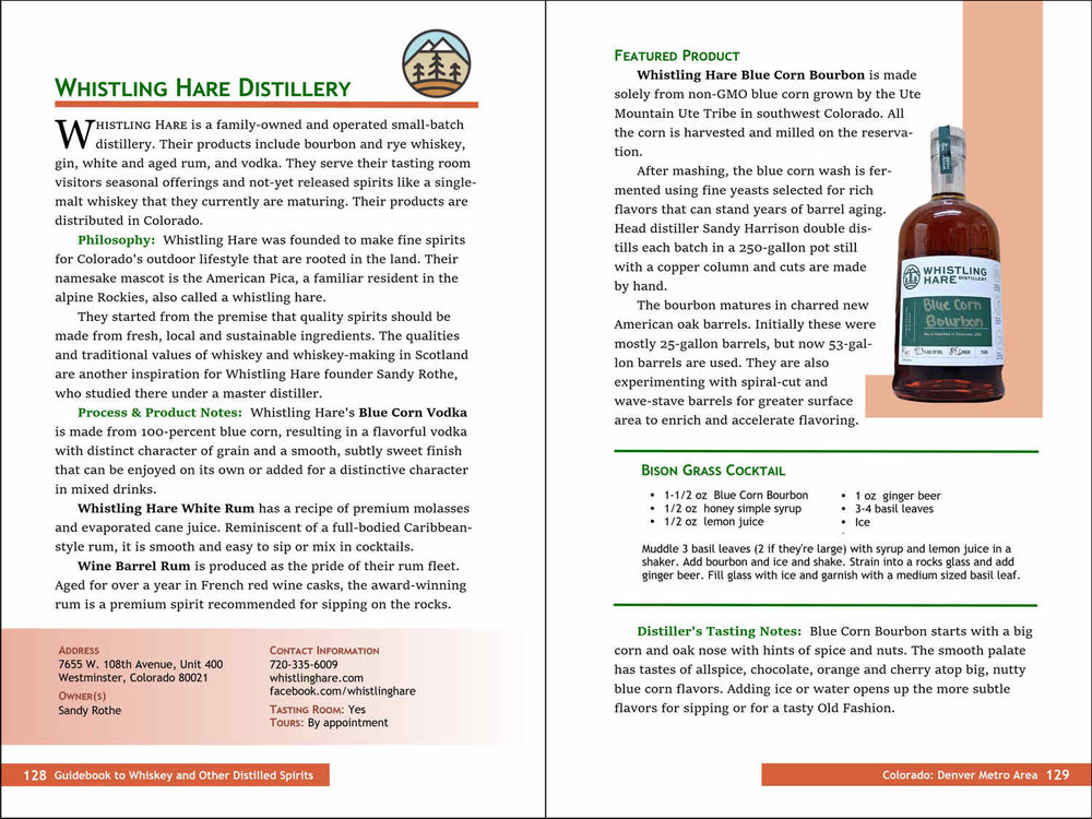 63 Detailed Profiles - Spirits the companies produce.Business philosophies they embrace.Production methods and tasting notes.Craft cocktails and specialty spirits.Contacts and online sites.