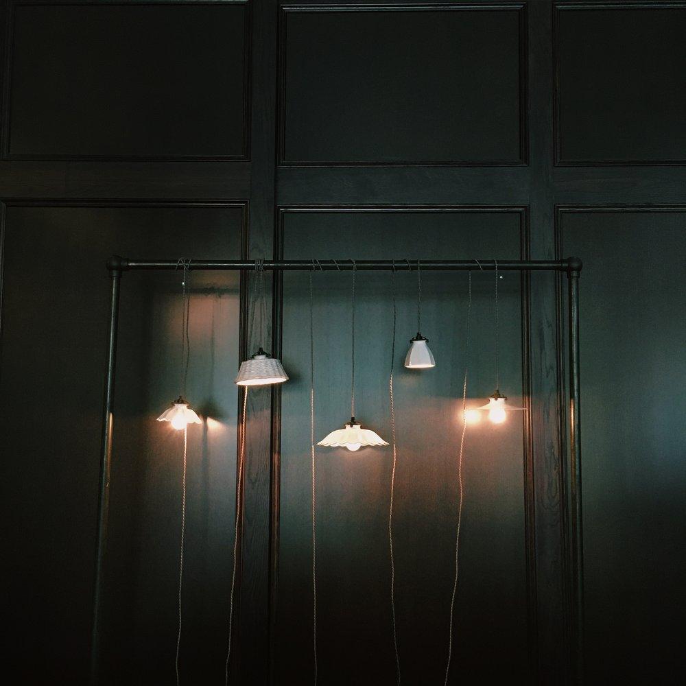 lights - romantic, dark, underexposed, starry-looking lights.