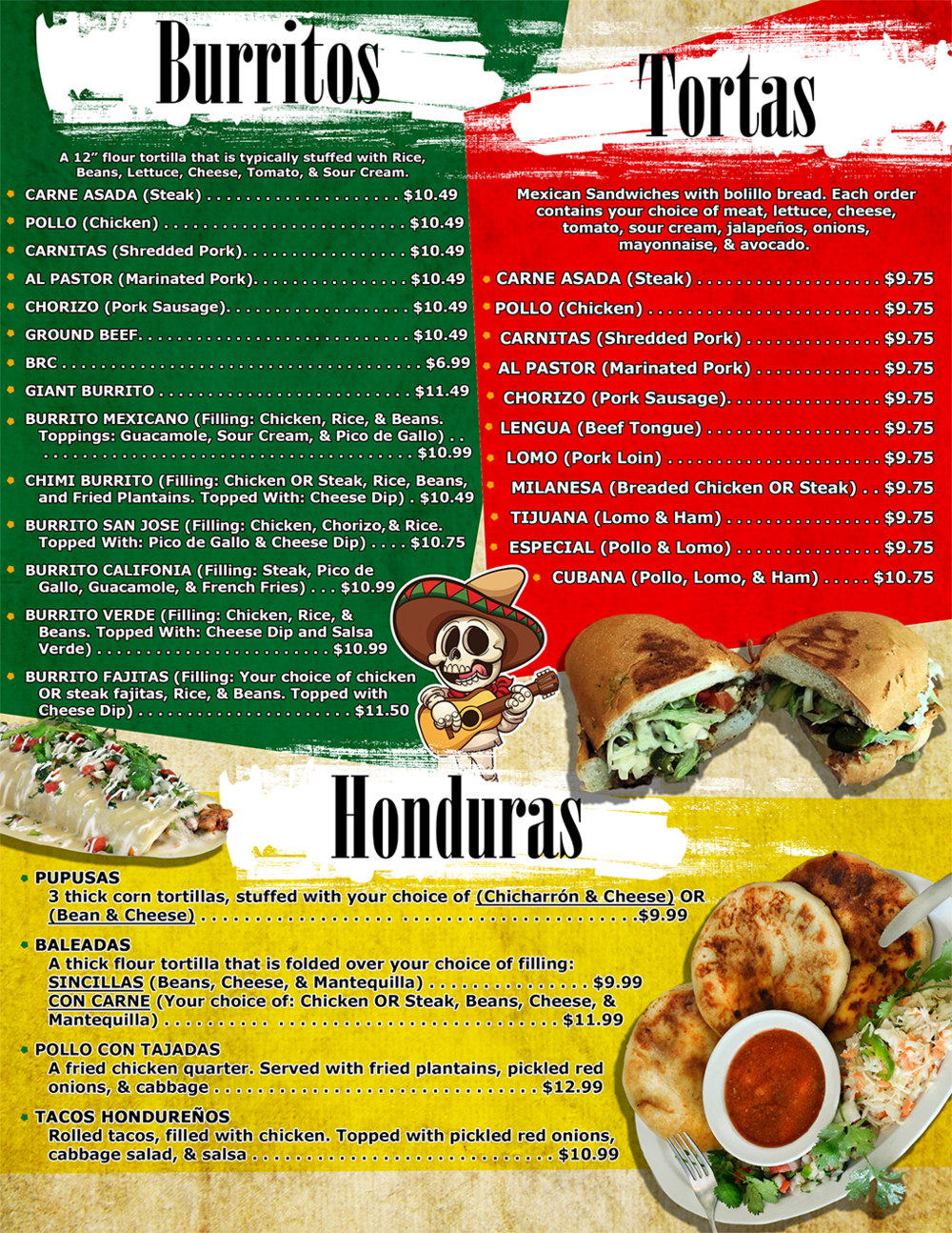 Burritos, Tortas, and Honduras