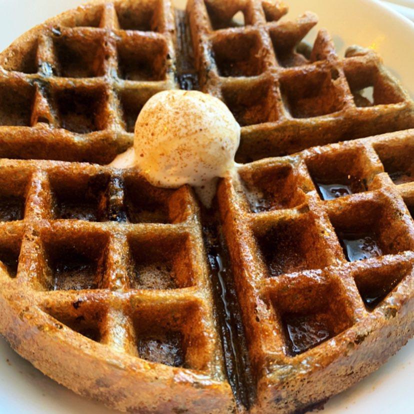 Blueberry Spelt Waffle -