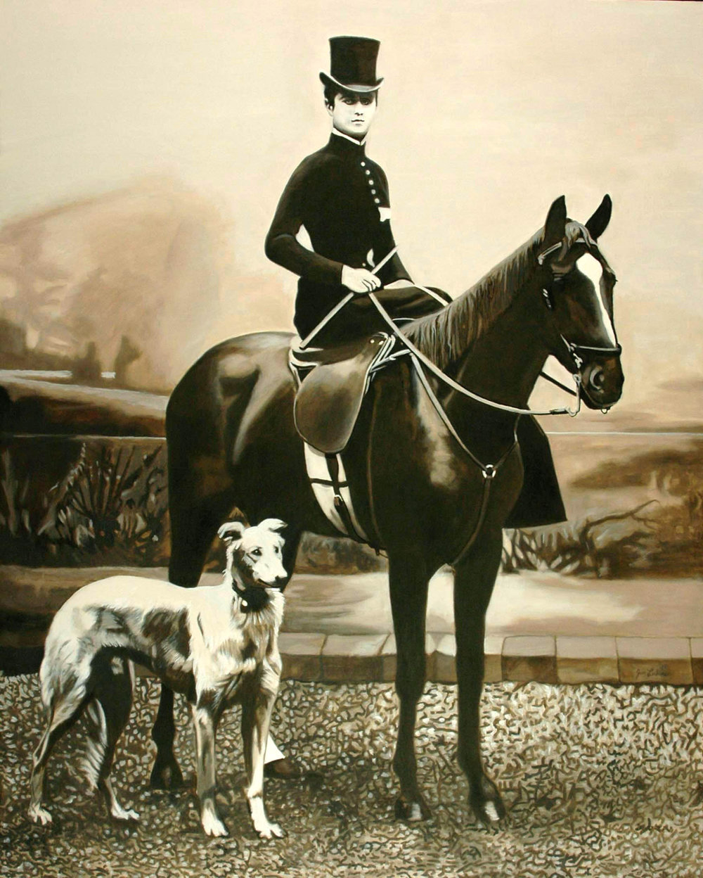 Her Horse & Dog