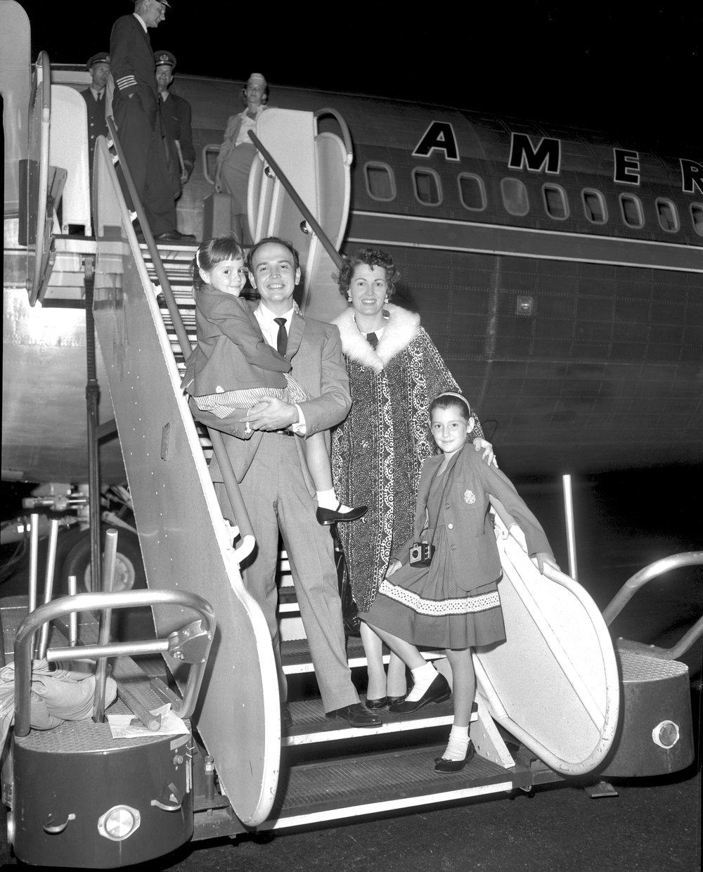 1959 Williams family's arrival, moving from NY to LA