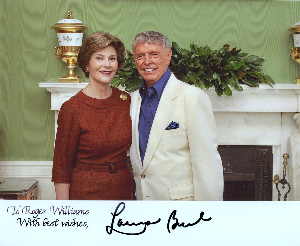 First Lady, Laura Bush with Roger