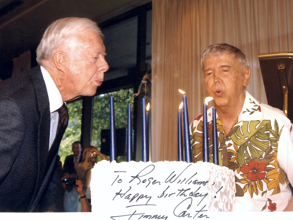 Mutual 80th birthday celebration with President Jimmy Carter