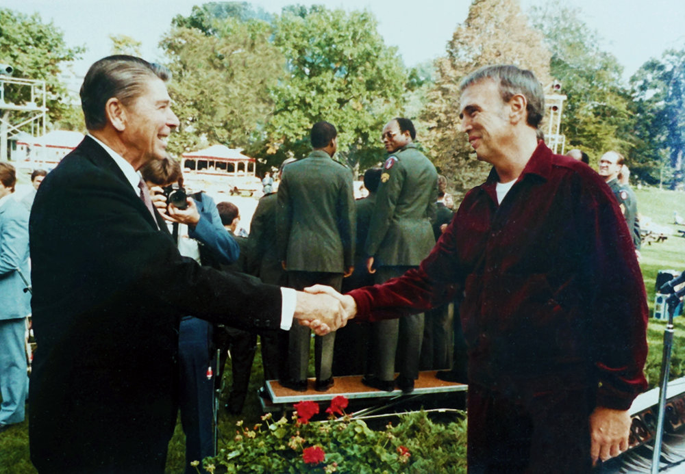 President Ronald Regan with Roger
