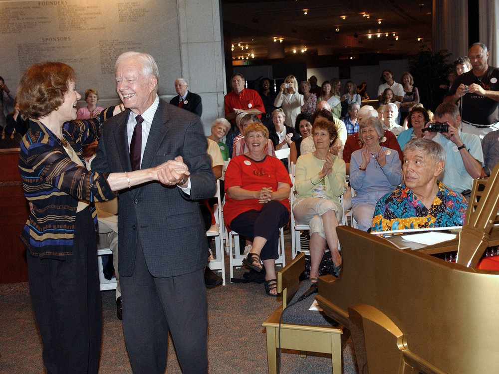 President Jimmy Carter and Rosalynn dancing
