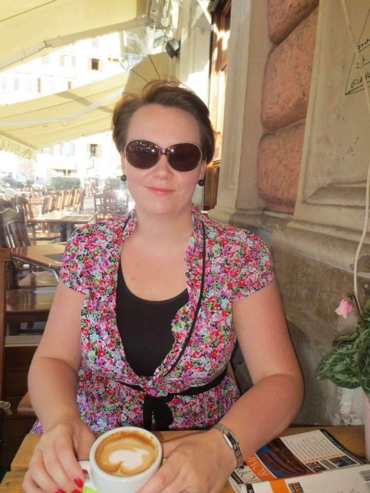 Me and my capucino outside Vatican City in 2012.