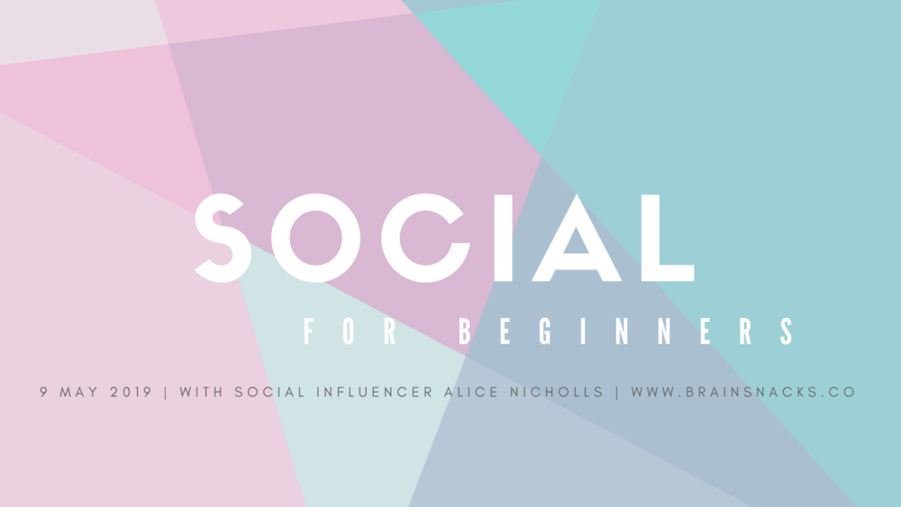 Social for Beginners - Get the real deal with social influencer Alice Nicholls. Accelerate your social skills by learning the basics from a social influencer with more than 14,000 followers on Instagram.Alice Nicholls is the Vice President of Marketing and Operations at Brain Snacks Co, and the talent behind popular vegan flood blog, Plant Tribe.