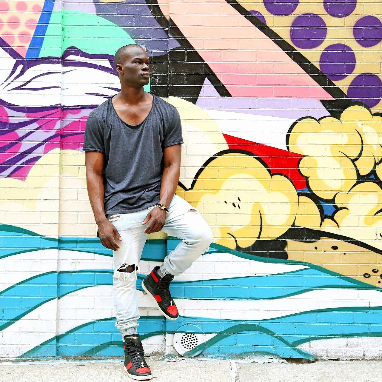 mens streetstyle zara pants ysl sl10 sneakers