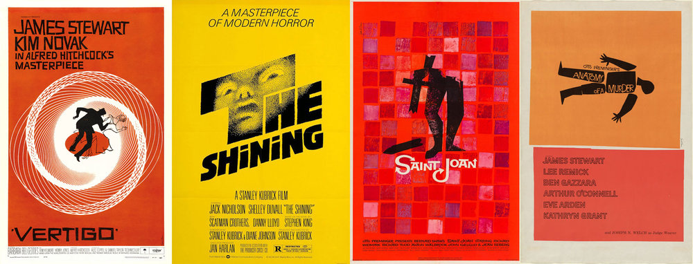 Some Saul Bass movie posters