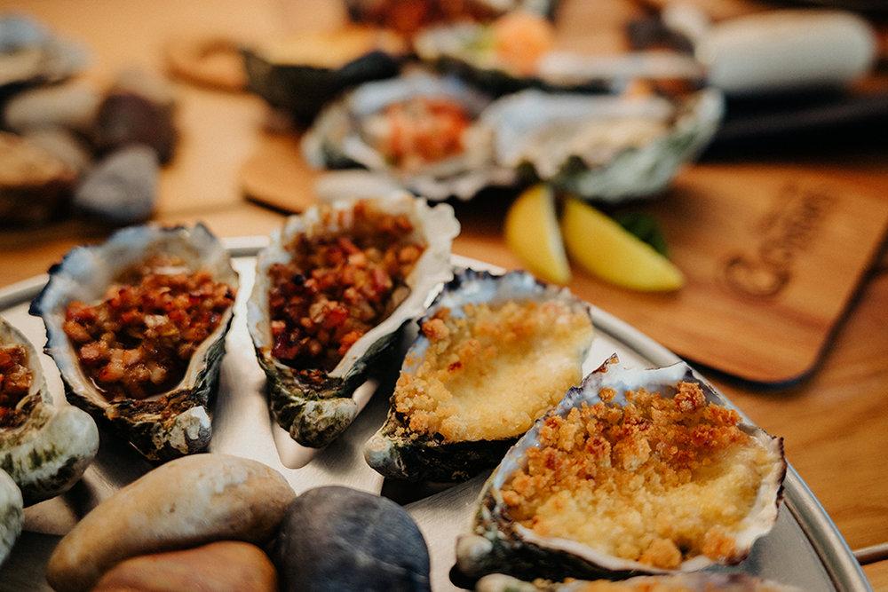 Jon's Kilpatrick or Rocky Point Oysters