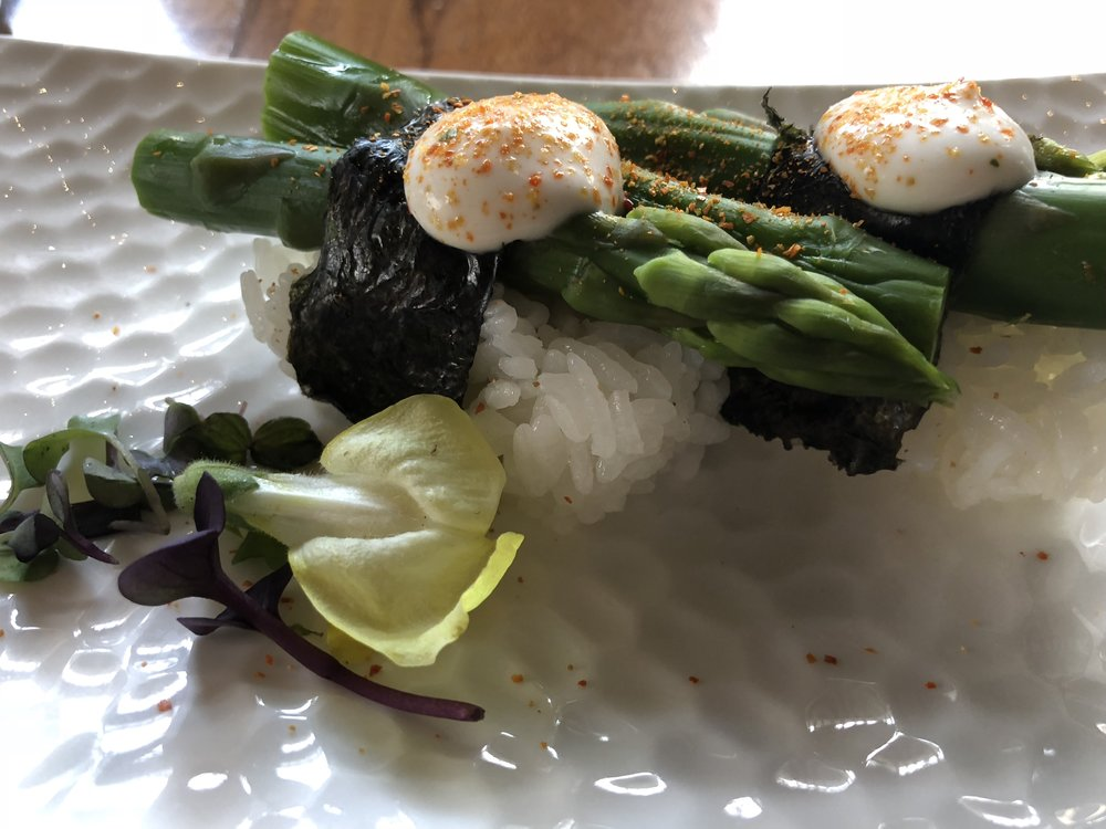 shizen asparagus nigiri2.JPG