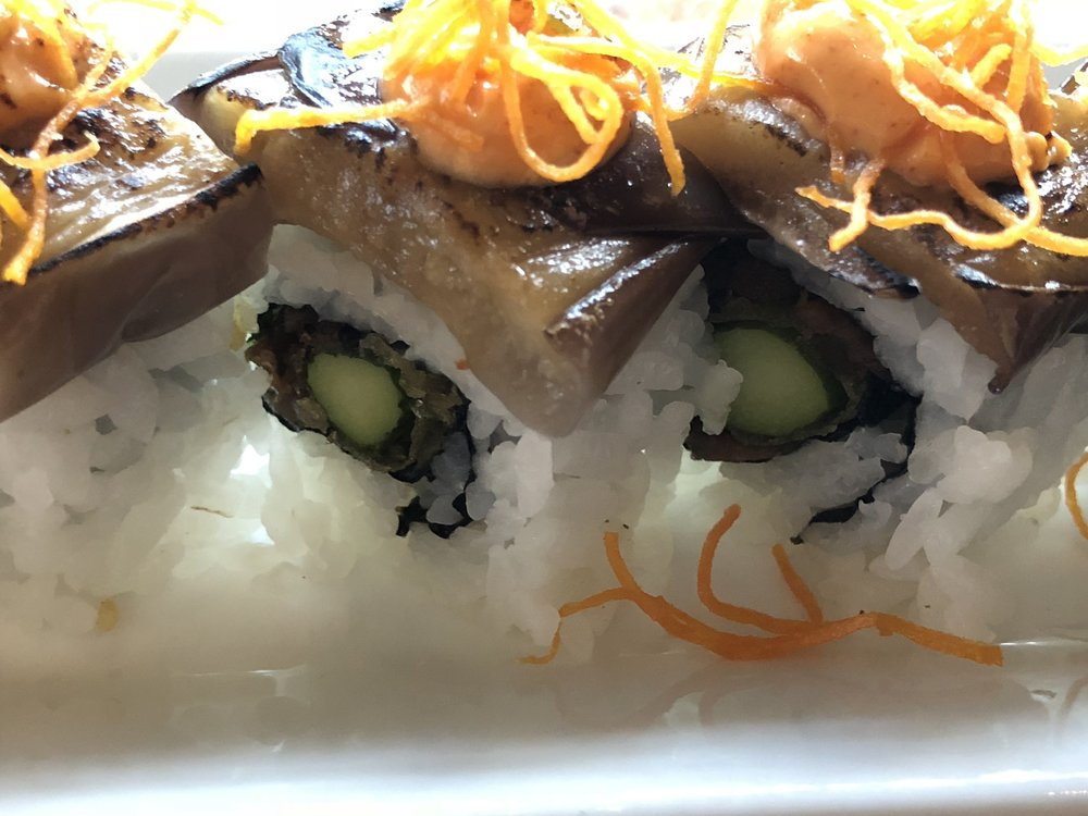 Asparagus tempura inside.