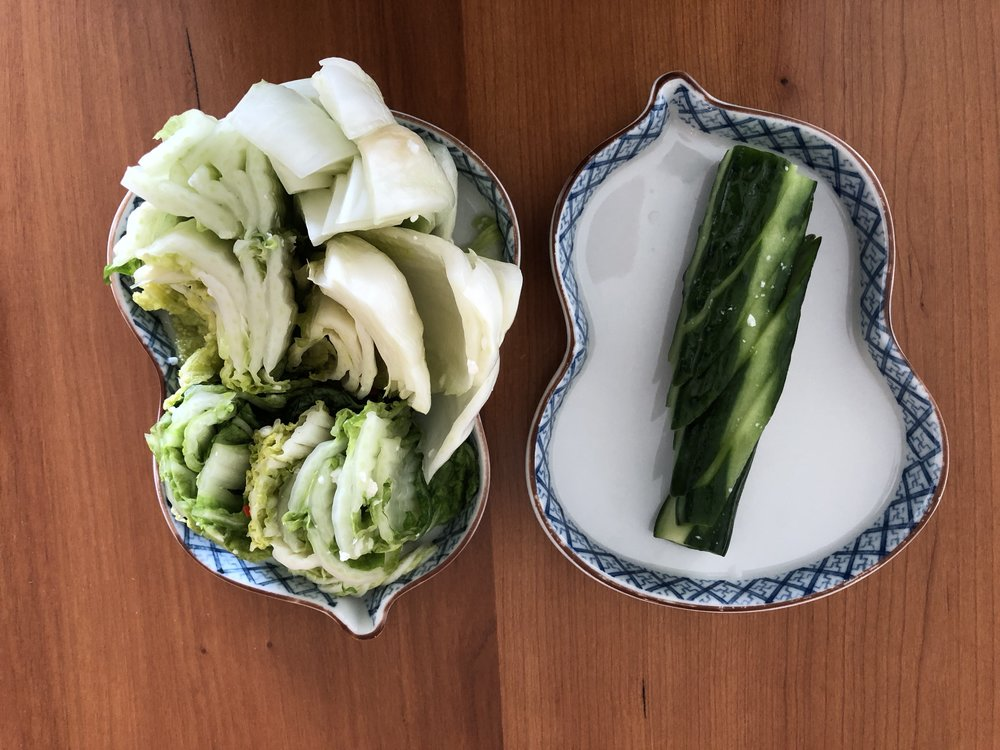 Nappa cabbage & cucumber pickles