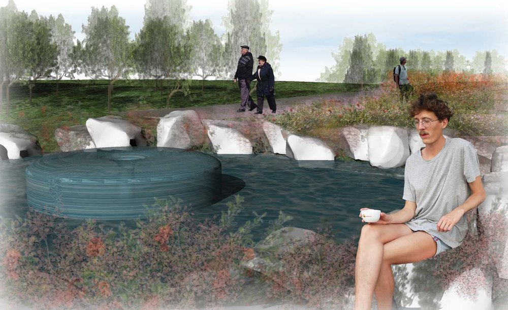 DIGITAL RENDERING (WATER FEATURE)