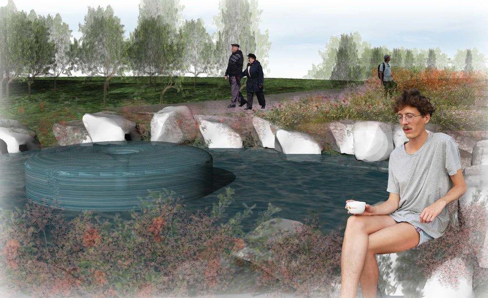 DIGITAL RENDERING (WATER FEATURE)