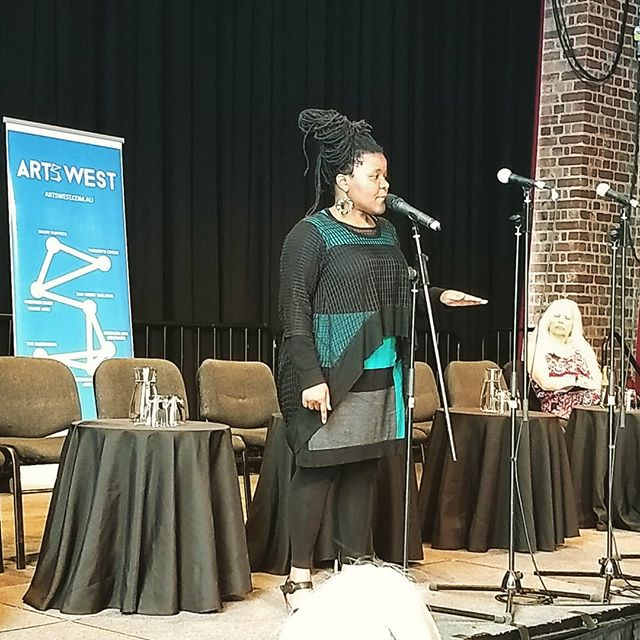 What a beautiful storyteller! Sista Zai ( @sistazai ) kicks off our Western Metro Arts & Culture Forum: Meet the Candidate for the 2018 Victorian Election.