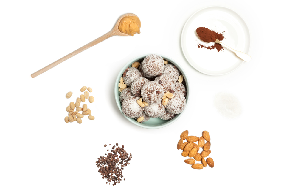 Cacao Crunch - A rich and decadent chocolate protein ball packed with a variety of wholesome ingredients. The cacao crunch has the perfect amount of cacao, sweetness and crunch in every bite.